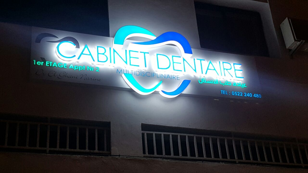 Enseignes lumineuses affichage dynamique led totem publicitaire signal tique d 39 int rieur - Affichage obligatoire cabinet dentaire ...